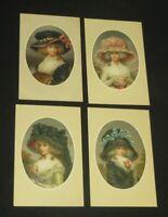 Postcard Lot Vintage Ladies Hats Austria M Munk (PC32)