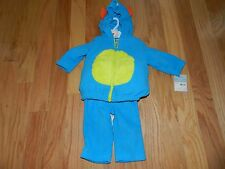 NWT Carter's 2-pc Blue Monster Hooded Halloween Costume Size 3-6 months