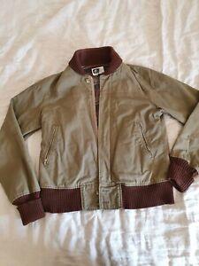 Engineered Garments Flight Jacket Khaki with carpet lining Size S