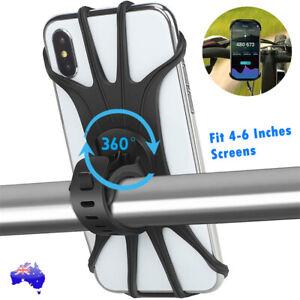 Mobile Phone Holder Handlebar Mount 360° Rotation for Motorcycle Bicycle Bike AU