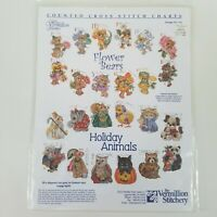 "DONNA VERMILLION GIAMPA ""FLOWER BEARS / HOLIDAY ANIMALS"" CROSS STITCH CHART #715"