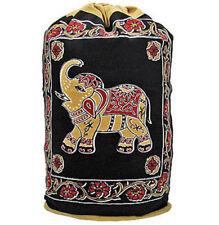 NEW Elephant OM Ohm Zen Backpack Yoga Pilate Gym 100% Cotton Drawstring Tote Bag