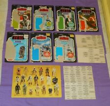vintage STAR WARS ESB & ROTJ CARDBACK LOT + CARRYING CASE INSERT & STICKERS