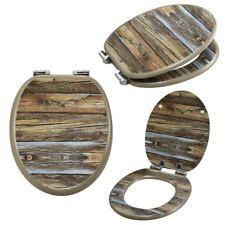 asiento de Inodoro tocador cierre suave Bajar Lavabo Gafas Tapa wc madera