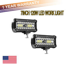 7Inch 120W LED Work Light Bar Offroad for SUV Boat Lamp Beam Car Driving ty30