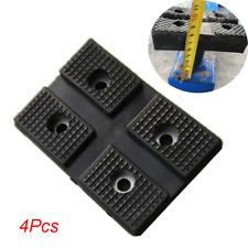 4Pcs Black Rectangle Heavy Duty Rubber Arm Pads Car Truck Lift Hoist Accessories