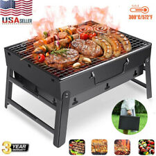 BBQ Barbecue Grill Folding Portable Charcoal Kabob Stove Camping Outdoor Cooker