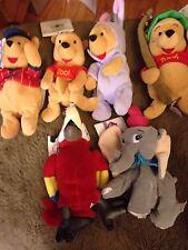 DISNEY STORE WINNIE THE POOH Bean Bags in Costume Dumbo Waddlesworth Dalmatians