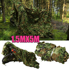 Military 5m Camouflage Camo Net Netting Mesh Blinds Hunting Woodlands Car Covers