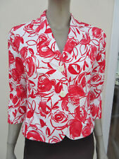 a436dee580 Hirsch - BNWT - Womens Red   White Floral 3 4 Sleeve Jacket - Size