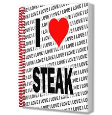 I love steak-a5 notepad drawings birthday logbook