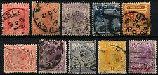 Victoria Australia Queen Victoria x 10 Different QV Stamps #D47174