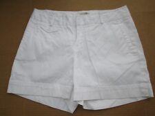 Womens Banana Republic Stretch Martin Fit White Pinstripe Cuffed Shorts size 4