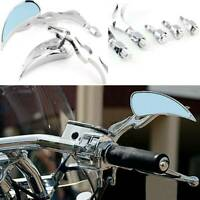 Chrome Motorcycle Rearview Mirrors Fit For Harley Chopper Bobber Touring Cruiser