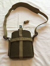 WWII British Army  Canteen Insulated Cork Top Bottle w/ Carrier & Strap