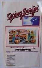 1973 - Going Surfin' - Bud Browne Surf Documentary - Orig Movie Promo Flyer 5x8
