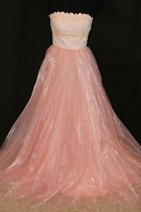 NWT Size 4 Blush/ivory size 4 Sherri Hill 50951  prom organza ball gown pastel