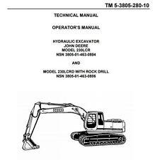 (5) 230LCR John Deere / Hitachi Hydraulic Excavator Brake Valve Plug [B8BA]