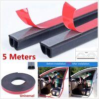 5M Practical Rubber Black Car Seal Strip Auto Door Wertherstrip Hollow B Shape