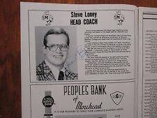 1981 Morehead State Football Program(81 Signed(w/Steve Loney/Brian Shimer)