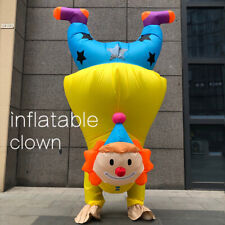 Latest Performance Handstand clown Cosplay Adult Inflatable Costume Funny Mascot