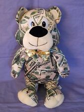 Allentown Toy Money Bear Stuffed Animal Plush Currency Teddy Gold Bow Tie 19""