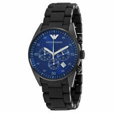 85770ddfdbb0 Anuncio nuevoEmporio Armani AR5921 Deportivo Cronógrafo Esfera Azul Banda  De Silicona Reloj para hombres