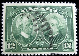CANADA – Sc #147 – 12¢ – GREEN – USED – 1927