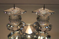Massive Swarovski Silver Crystal Two Candle Candelabra Spike 7600 Nr 108 Europe