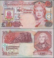 Gibraltar 10 Pounds, 2006, P-32, UNC, Queen Elizabeth II (QEII)