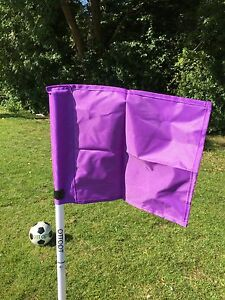 Set of four OTTOPT foldable PURPLE corner flags with posts, spike and carry bag