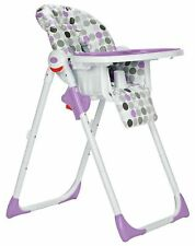 Cuggl Deluxe Plum 6 Position Reclining feeding Highchair up to 3 yrs