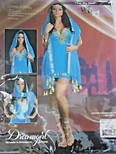 Plus Size XLarge Womens Turquoise & Gold Cosplay Halloween Sexy Costume Party