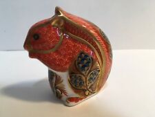 Royal Crown Derby Red Squirrel Porcelain Paperweight Gold Stopper