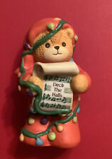 Lucy & Me Christmas Deck The Halls Bear Tangled In Lights Lucy Rigg Enesco 1992
