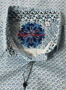 Robert Graham Dalegard L/S Blue Cuff Shirt, RRR191511CF, Men's Medium - NWT $198