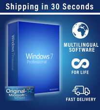 Microsoft Windows 7 Professional OEM - 32/64 Bit - Multilingual - Original 100%