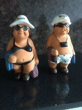 "Vintage 1985 Kitsch Pair Of The Beachcombers Couple Bathers 7.5"" High"