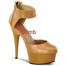 hot SEXY glam fashion SCARPE con PLATEAU cavigliera TACCO 15 CM dal 35 al 44