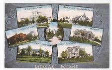North Dakota Agricultural College State University Fargo Nd 1918 postcard