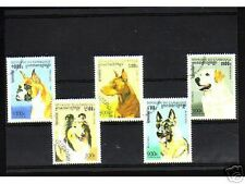 0925++CAMBODGE   SERIE TIMBRES  CHIENS  N°1
