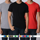 MEN'S PLAIN blank Regular Fit T shirts Big Unit Tees sizes S-3XL Screen printing