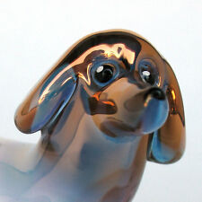 Doxie Dachshund Blown Glass Crystal Figurine Sculpture