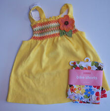Nwt Gymboree Island Getaway 18-24 Flower Corsage Tank Top & Floral Bike Shorts