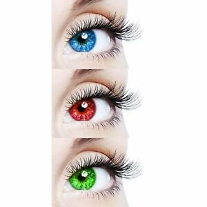 Monthly Sky Blue, Red & Green Lens with solution and cases 3 Pair