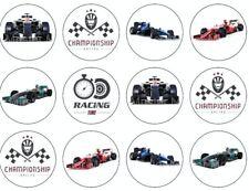 Formel F1 eßbar Torten-Bild-Aufleger Party Deko Cupcake Geburtstag Rennwagen neu
