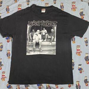 Vintage 90s Minor Threat T-shirt Xl Fugazi Hardcore Punk Black Flag Bad Brains