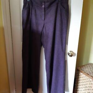 Ladies Size 18 Monsoon Purple  Trousers VGC