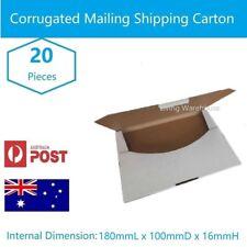 20 x Superflat Mailing Box 180 x 100 x 16mm - Diecut Envelope Rigid MAILER