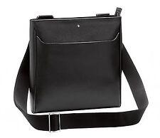 Montblanc 114582 Sartorial Envelope Medium City Black Leather Bags New w/Box